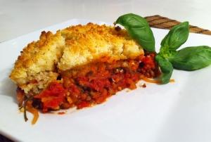 Tomato Crumble - vegetarisches Rezept